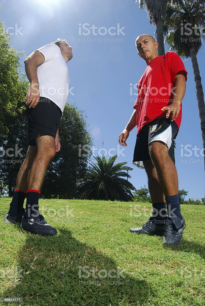 Soccer Rivals Players royalty-free stock photo