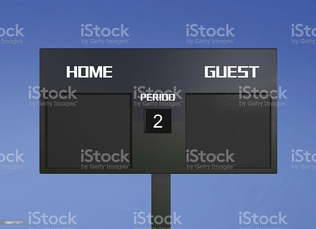 soccer scoreboard score stock photo