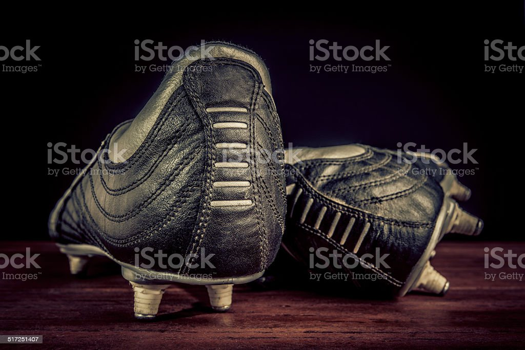 soccer shoes stock photo