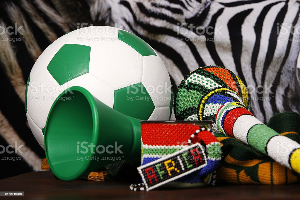 Soccer South Africa and Vuvuzela royalty-free stock photo