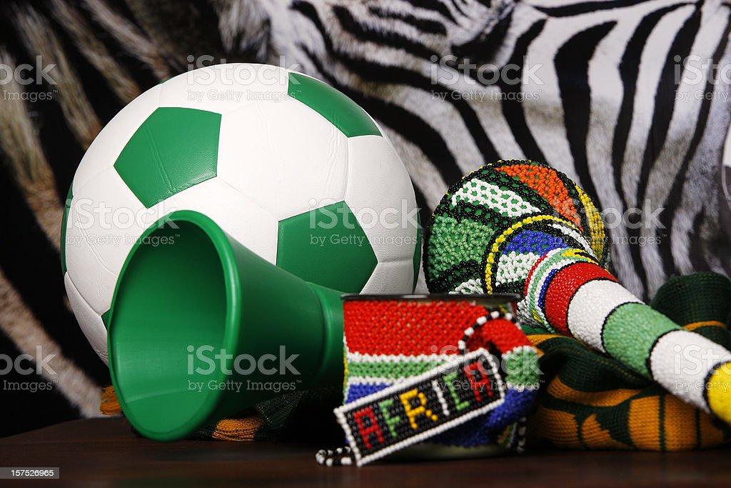 Soccer South Africa and Vuvuzela stock photo