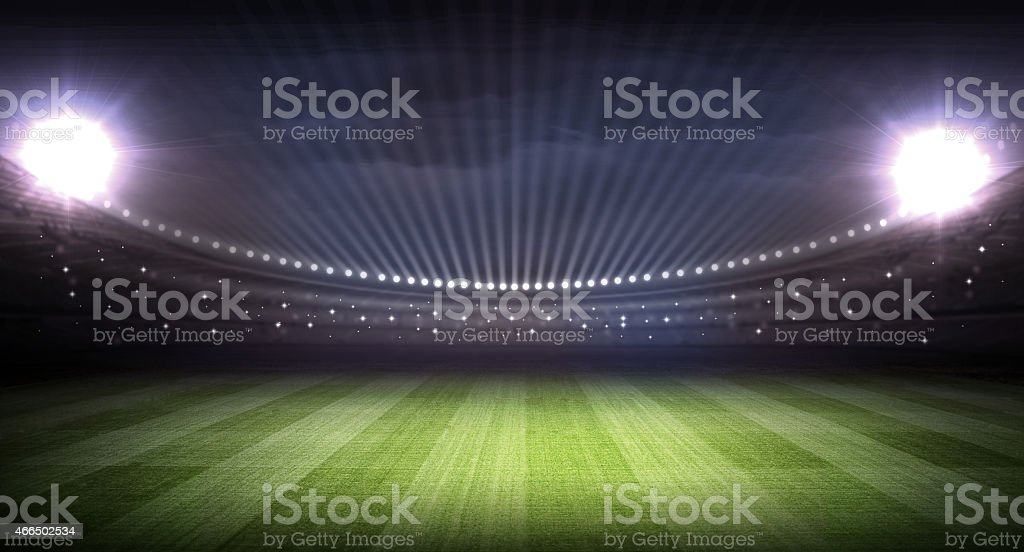 soccer stadium and the bright lights stock photo