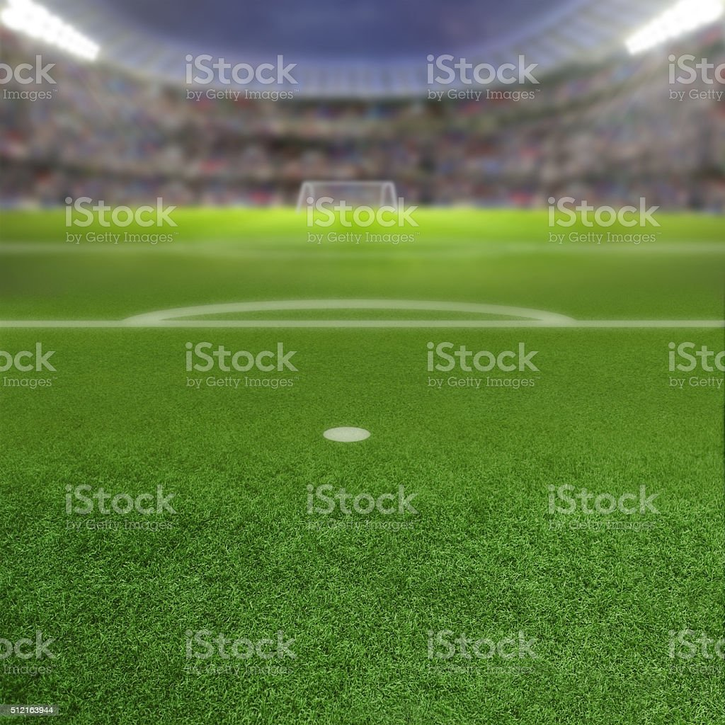 Soccer Stadium Background With Copy Space stock photo