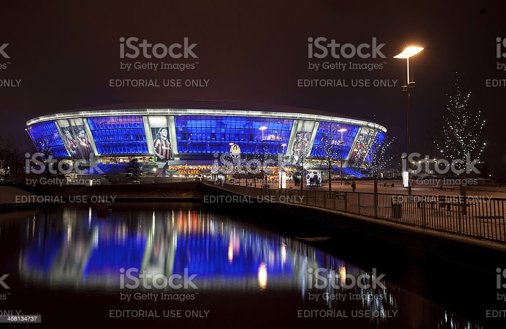 Soccer stadium Donbass-Arena royalty-free stock photo