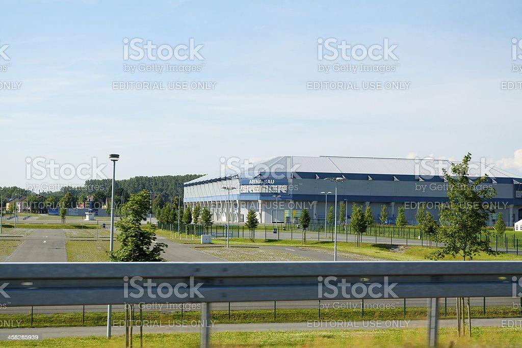 Soccer stadium Paderborn Arena stock photo