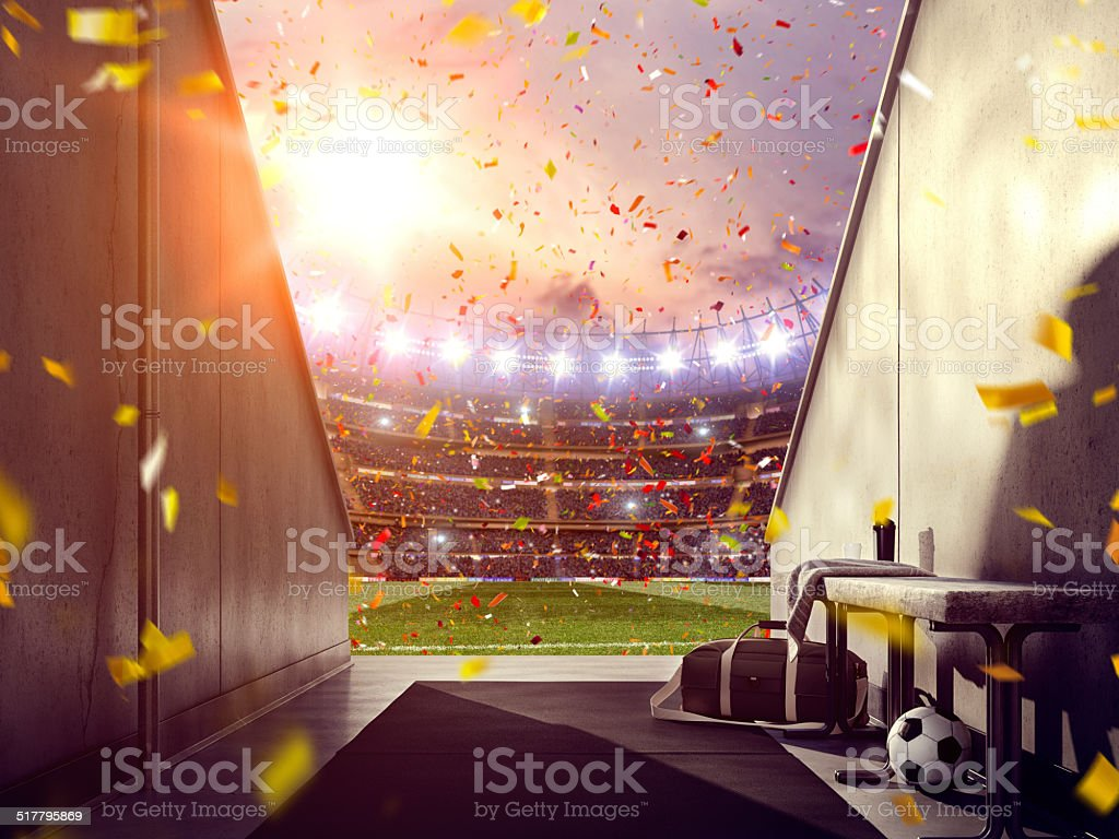 Soccer stadium stock photo