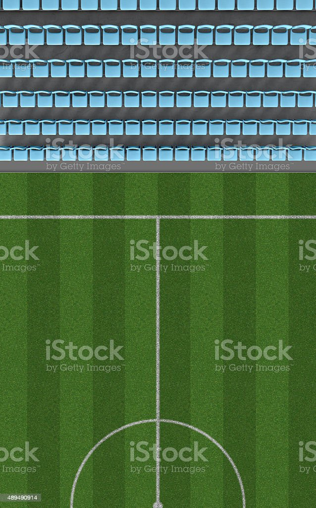 Soccer Stadium Top View Section stock photo
