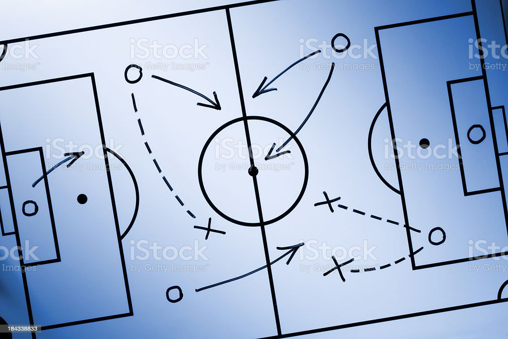 Soccer strategy royalty-free stock photo