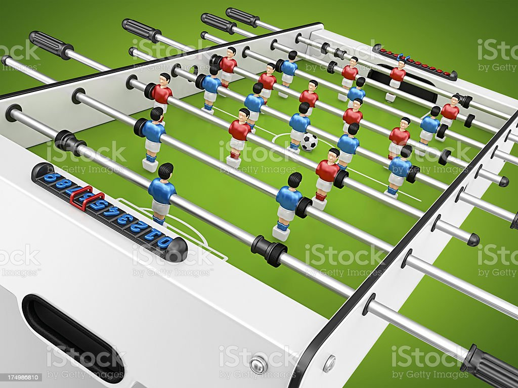 soccer table stock photo