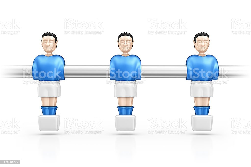 soccer table players stock photo