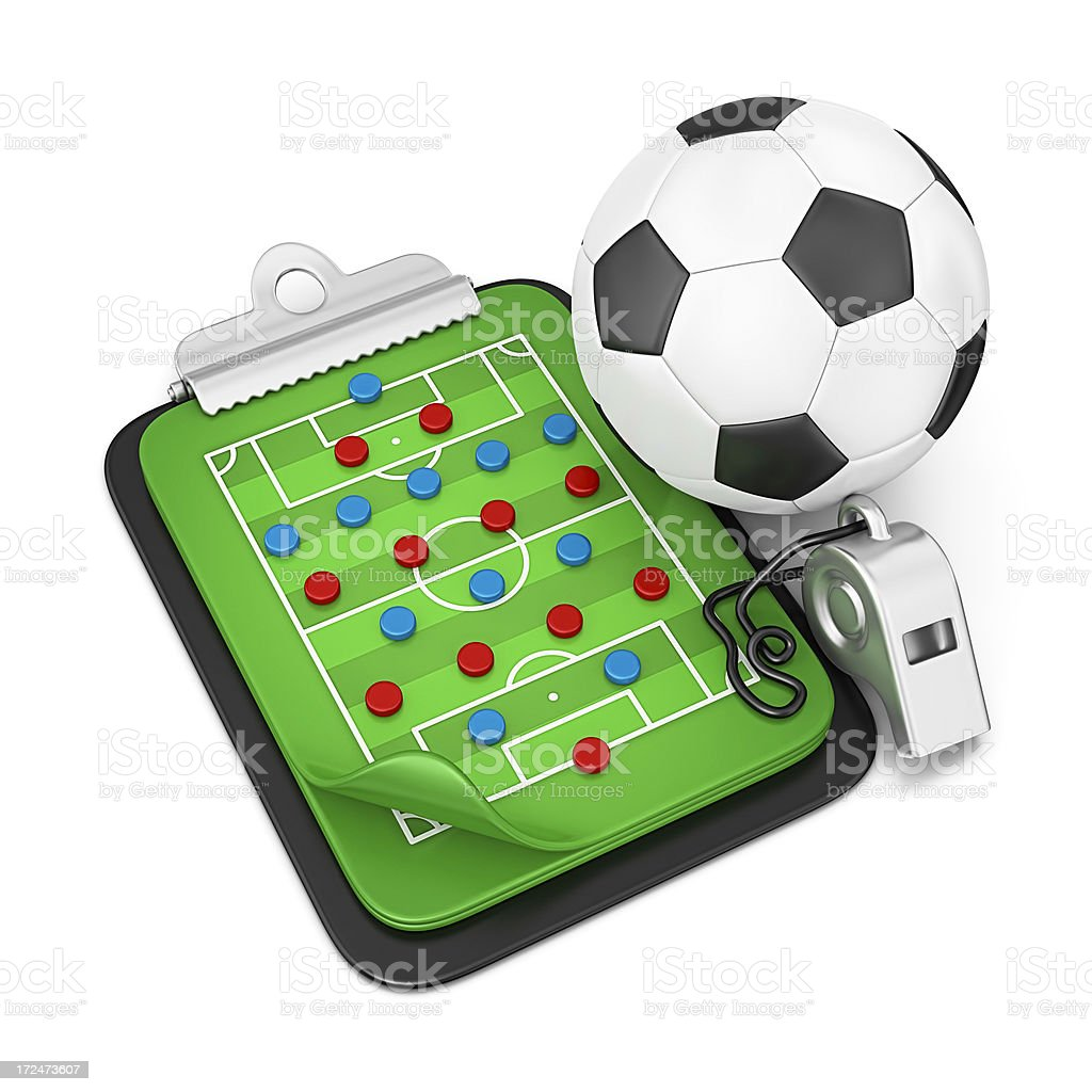 soccer tactic royalty-free stock photo