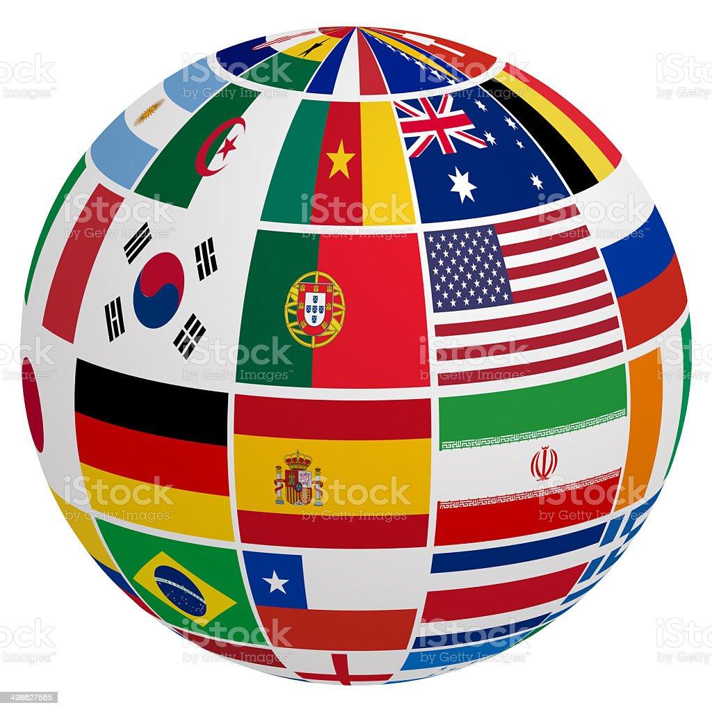 soccer team flag stock photo