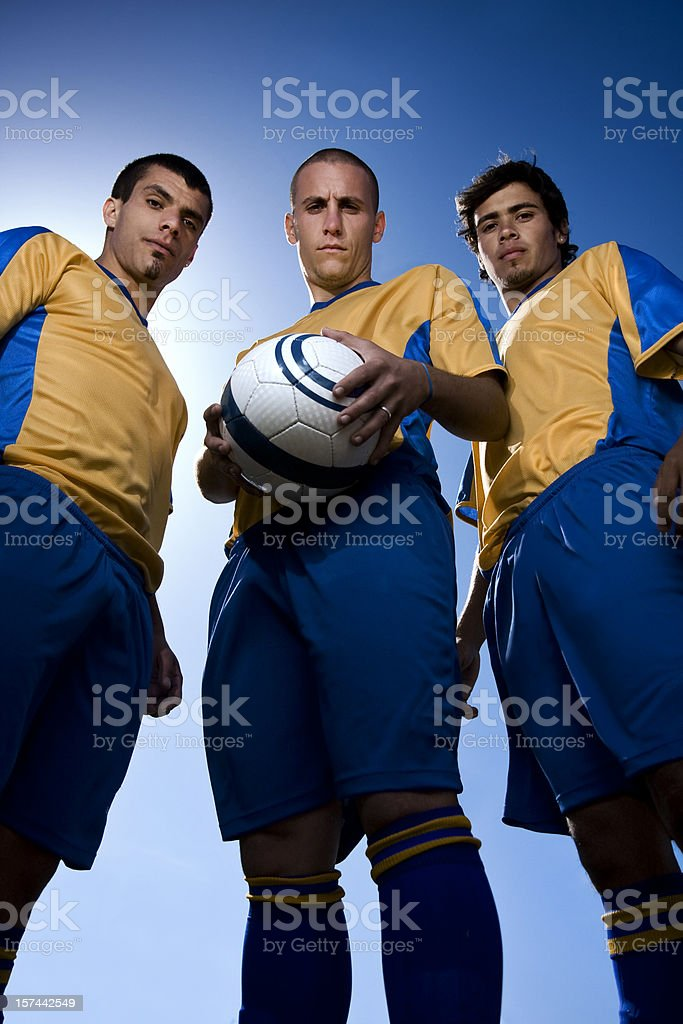Soccer team leaders royalty-free stock photo