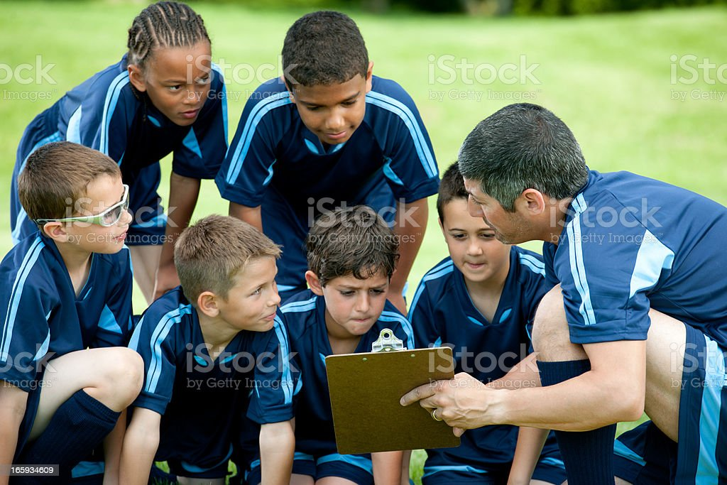 Soccer  team stock photo