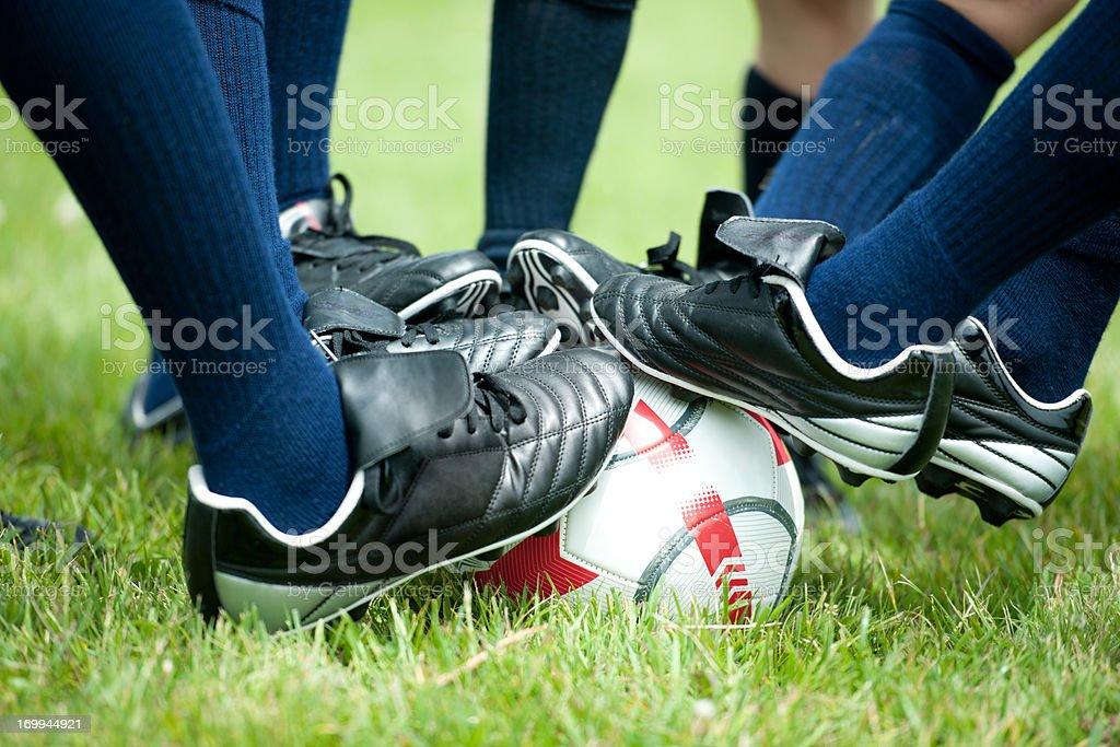 Soccer team royalty-free stock photo