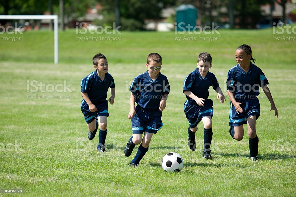 Soccer team royalty-free stock photo