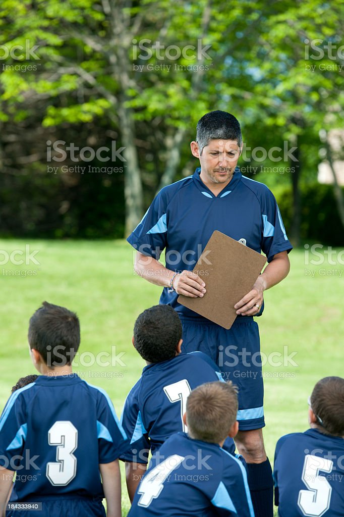 Soccer team stock photo