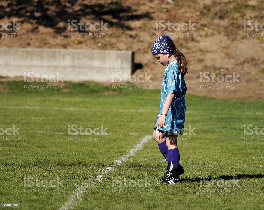 Soccer Think royalty-free stock photo