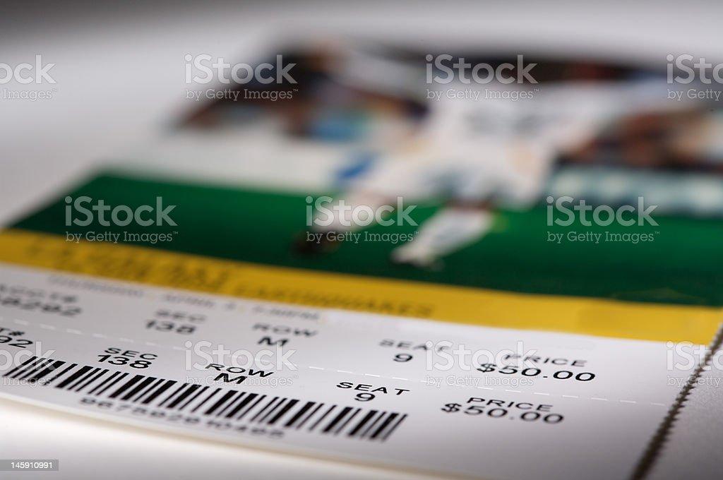 Soccer Ticket stock photo