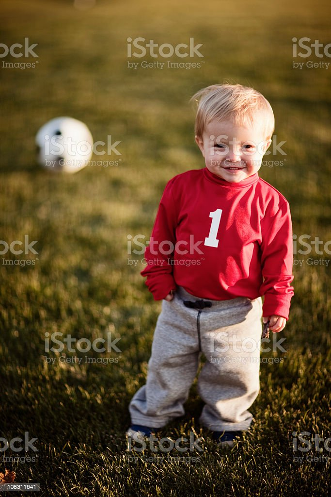 Soccer Toddler royalty-free stock photo
