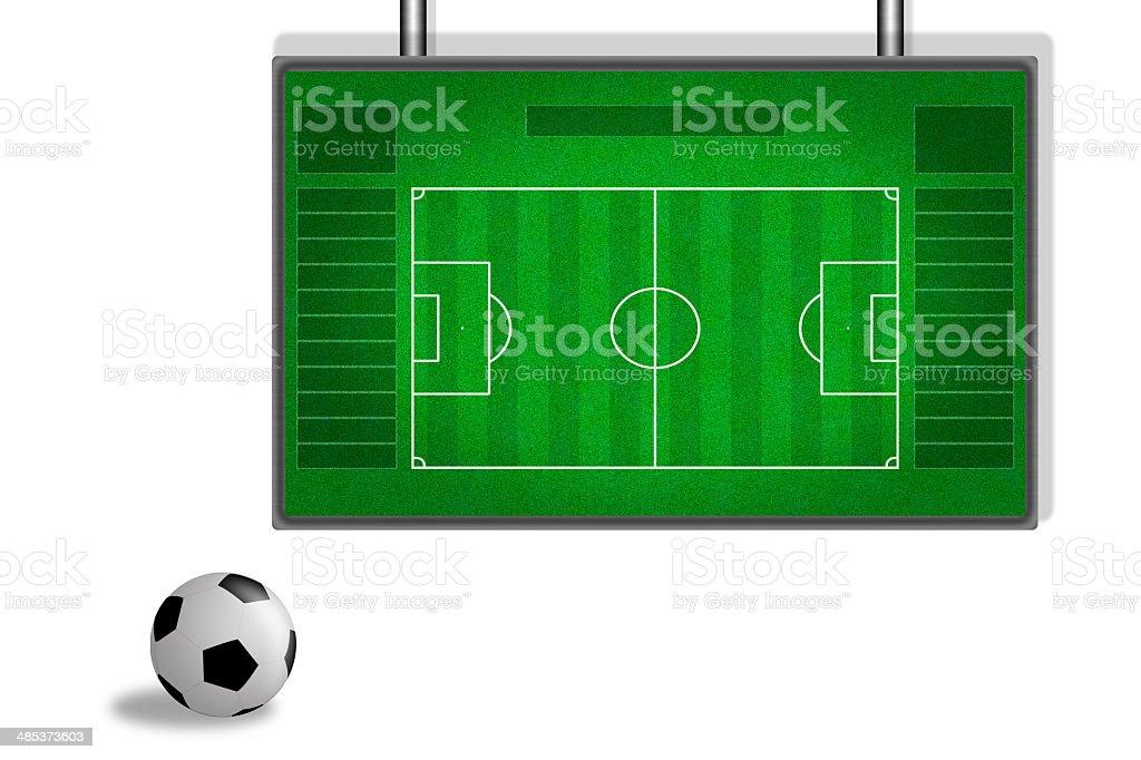 soccer training board stock photo