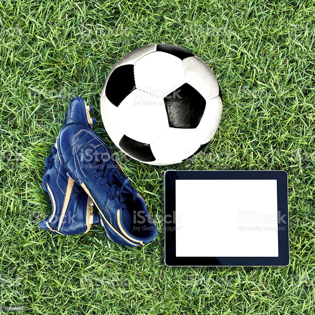 Soccer training stock photo