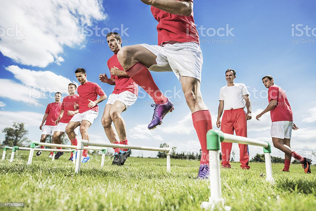 Soccer training. stock photo