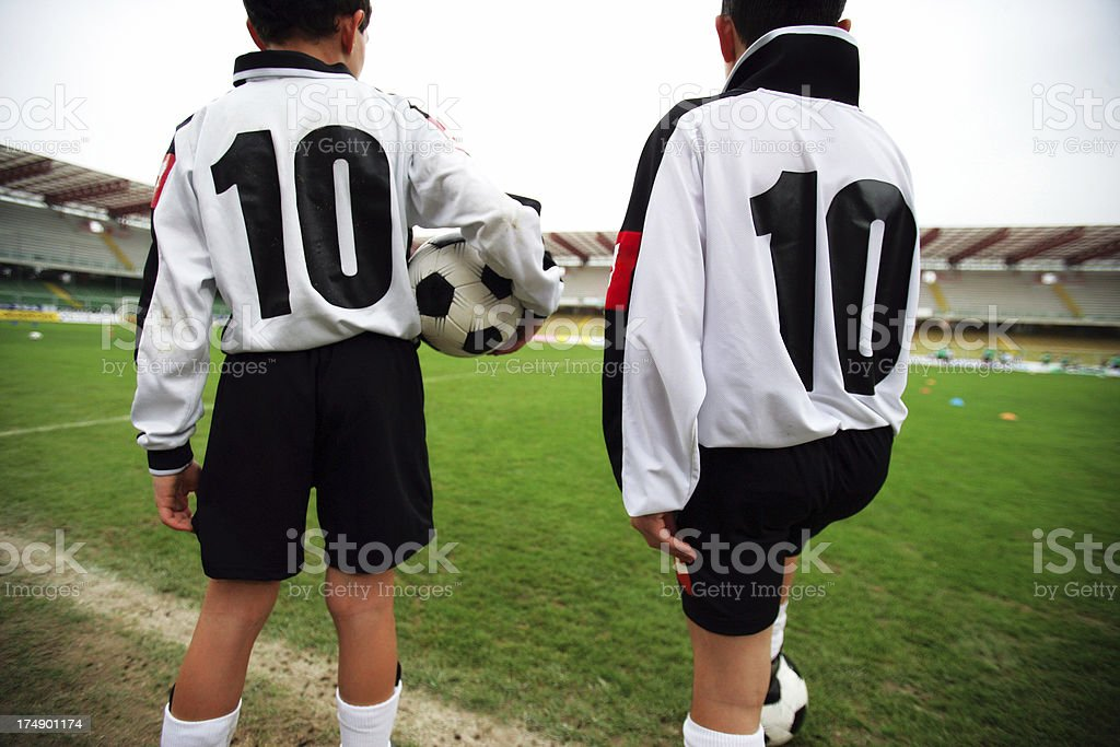 Soccer twins royalty-free stock photo
