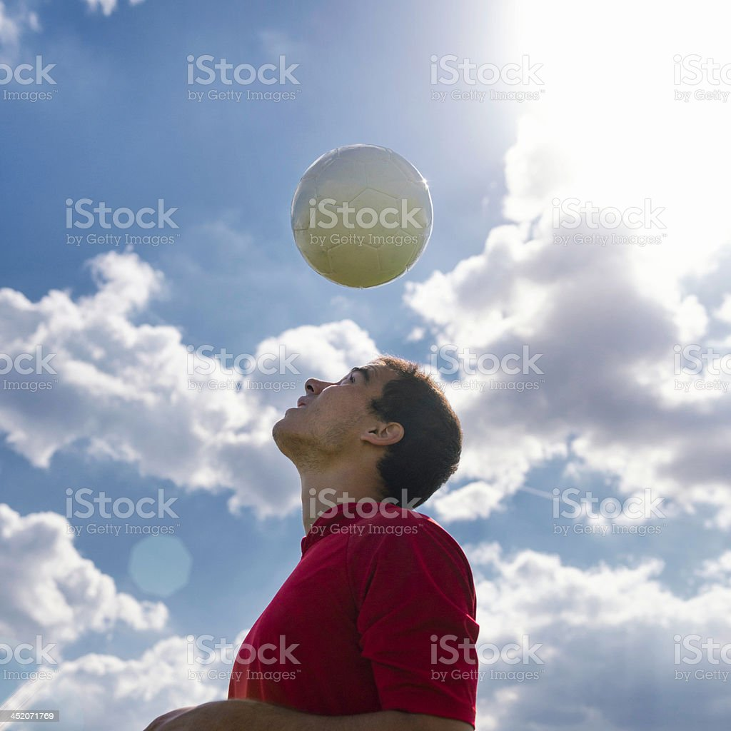 Soccer under the sun royalty-free stock photo
