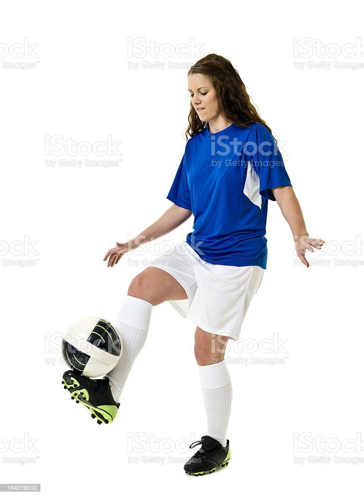 Soccer Woman royalty-free stock photo