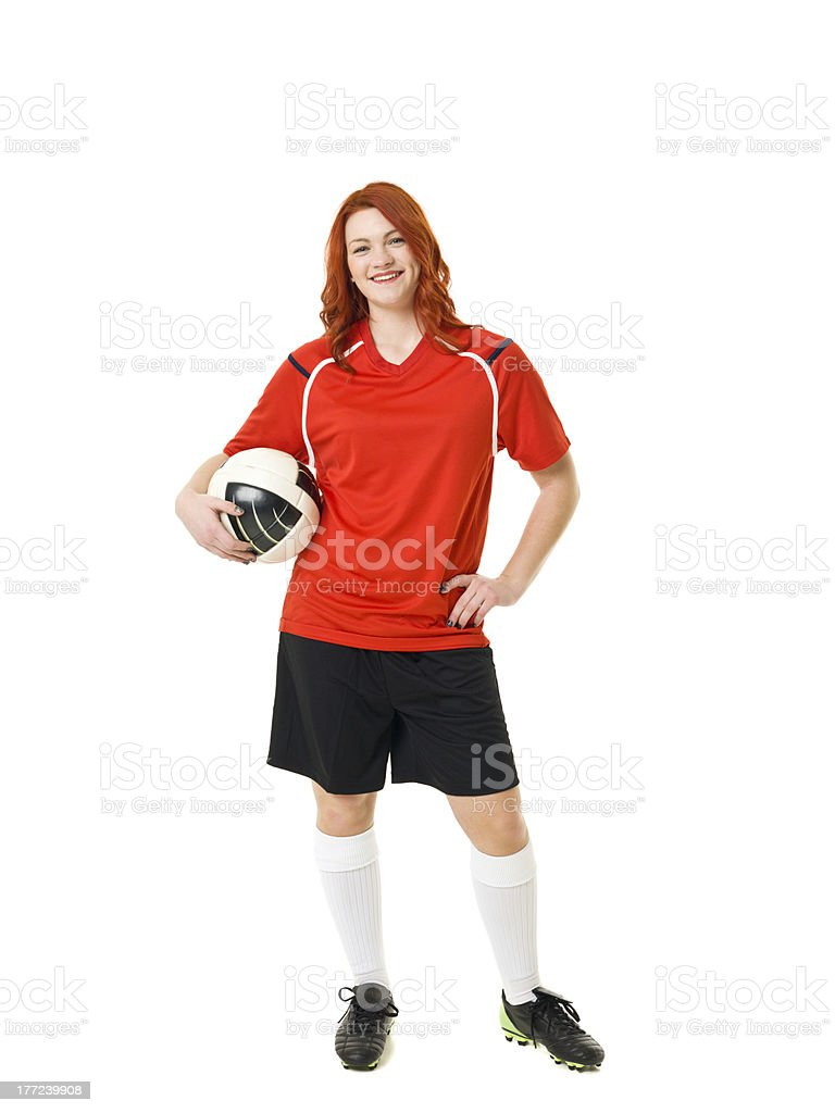Soccer woman royalty-free stock photo