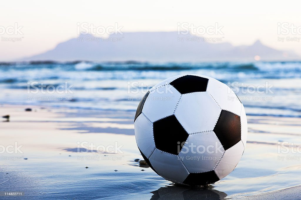 Soccer world championship in South Africa stock photo