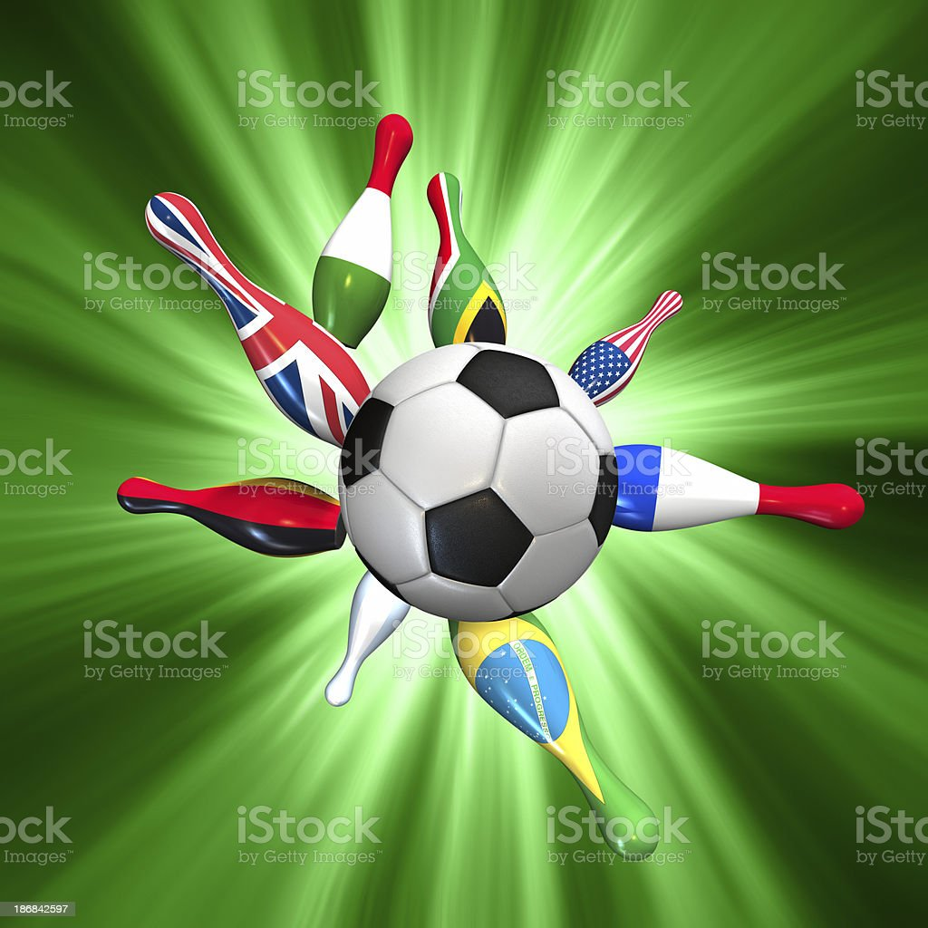 Soccer world cup royalty-free stock photo