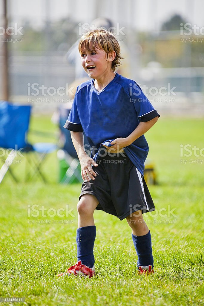 'Soccer: Young Anger, Frustration, Pain' stock photo