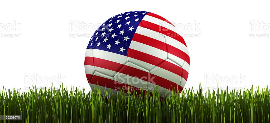 Soccerball in grass royalty-free stock photo