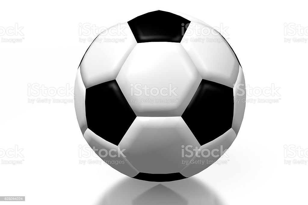 3D soccerball stock photo