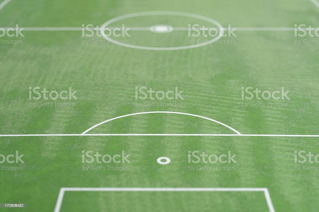 Soccerfield royalty-free stock photo
