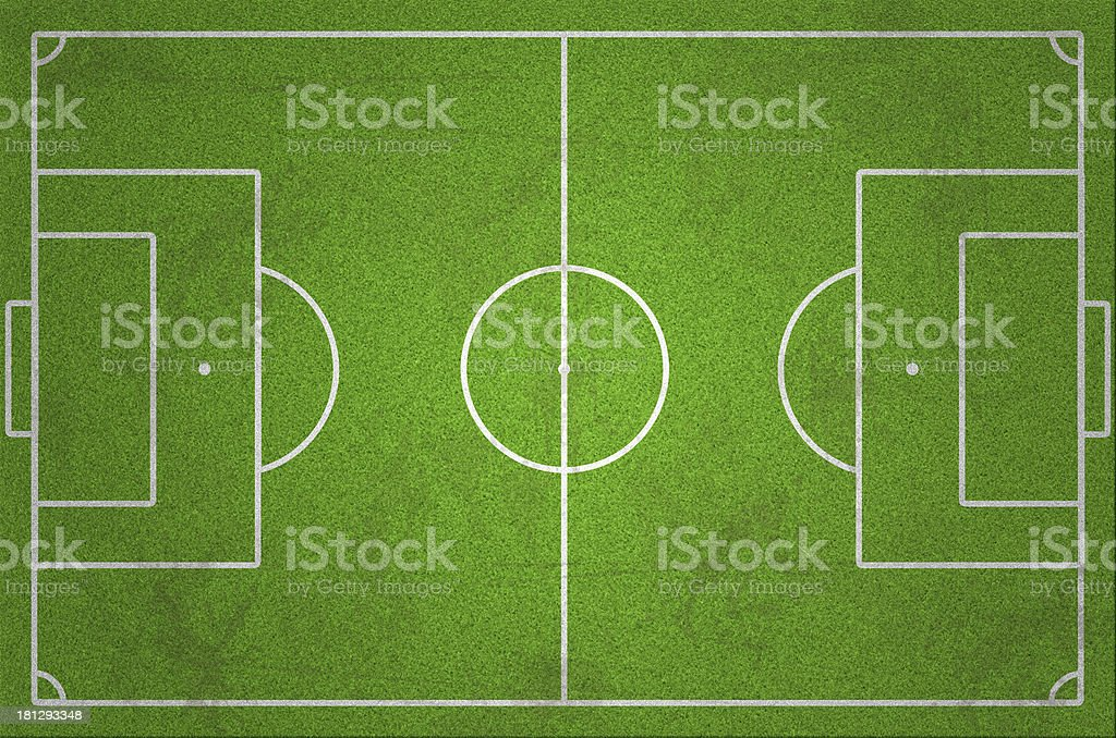 Soccer/Football Field with Grass and Dirt stock photo