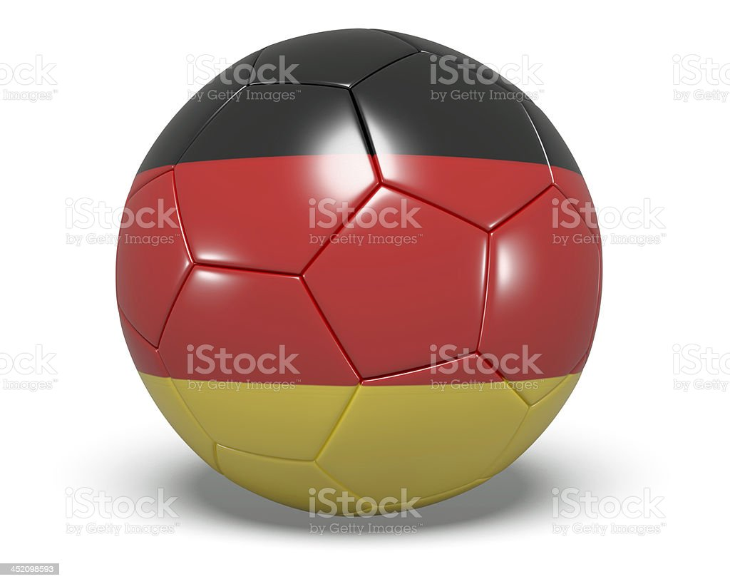 Soccer/football with a German flag on it. royalty-free stock photo