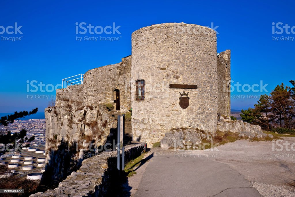 Socerb fort on border of Slovenia and Italy stock photo