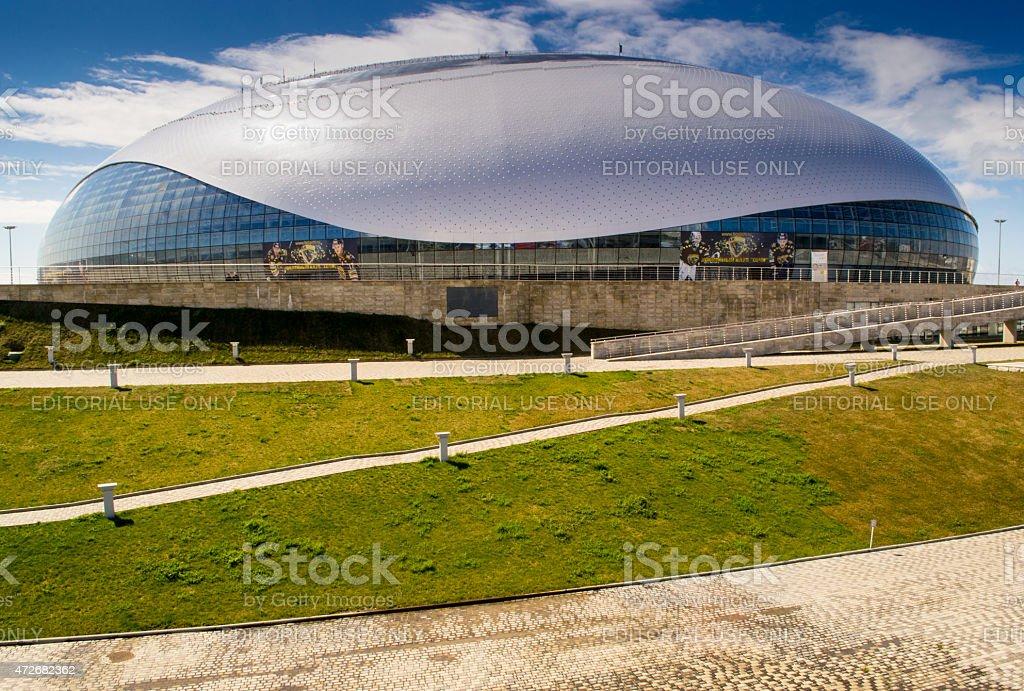 Sochi Olympic Park Ice Stadium stock photo