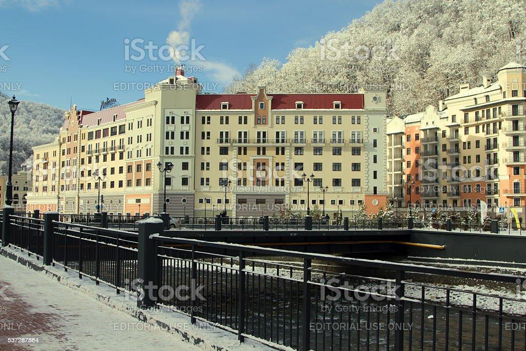 """Sochi, Russian Federation -€"""" January 02, 2015: Hotel Radisson i stock photo"""