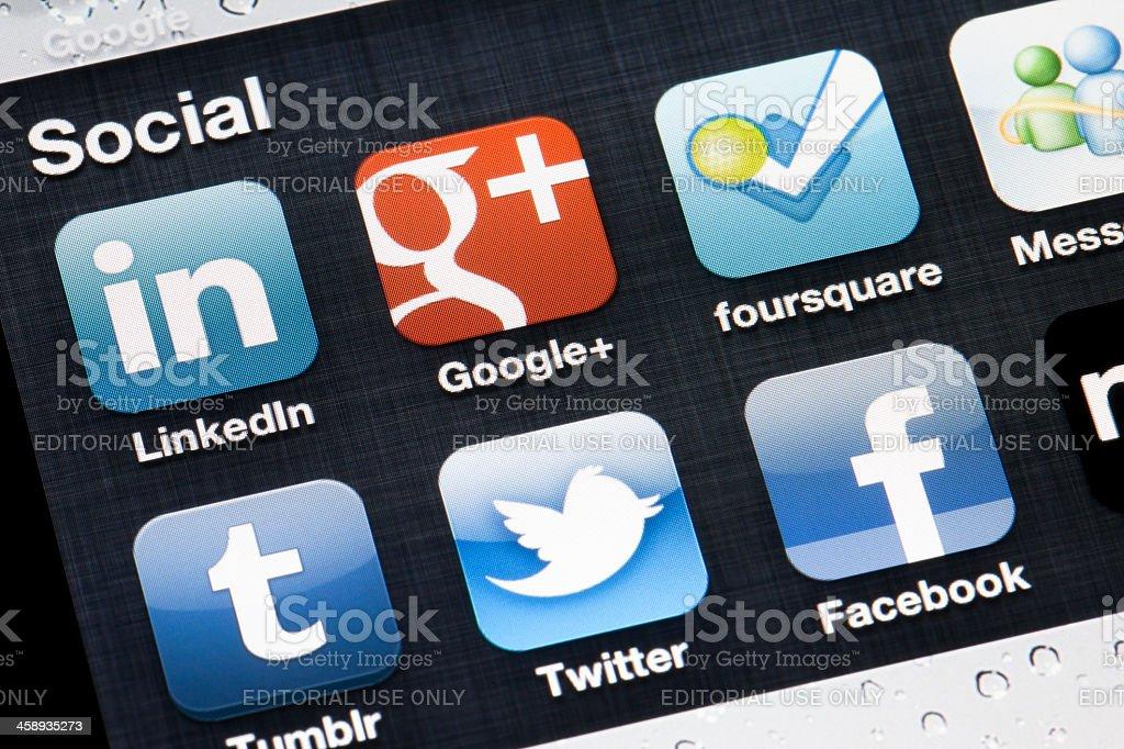 Social applications royalty-free stock photo
