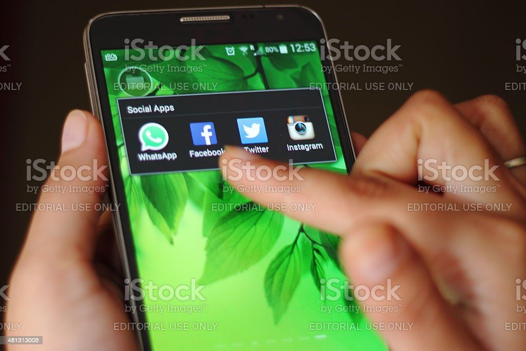 Social Apps stock photo