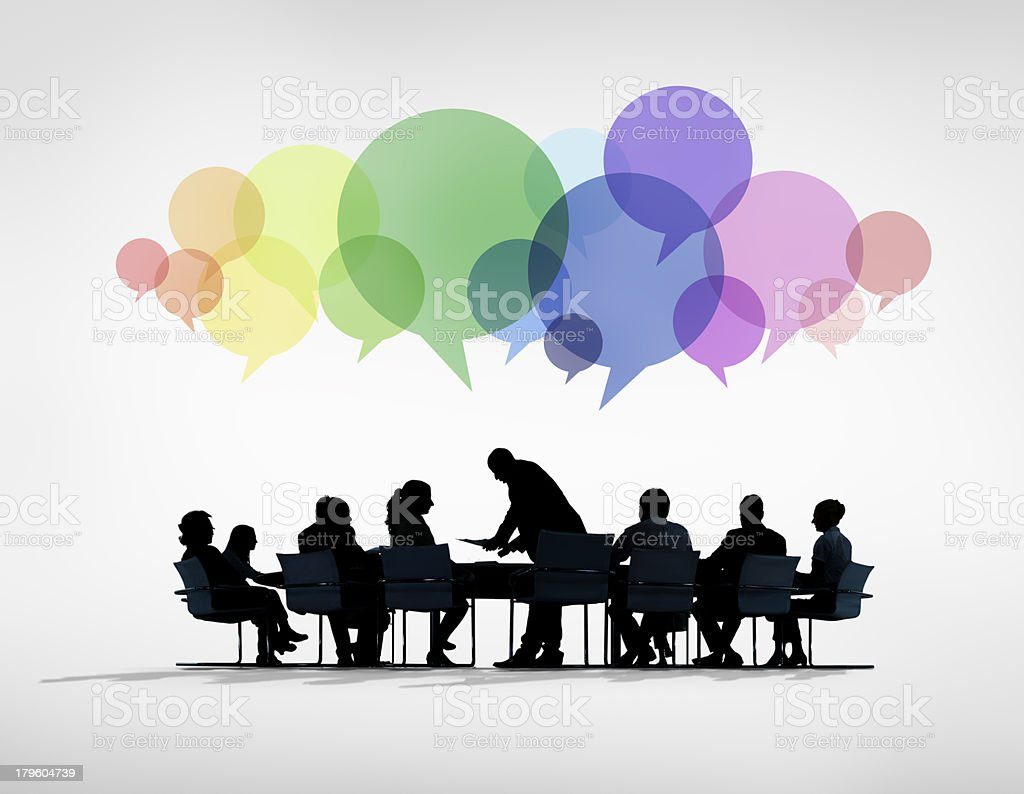 Social Business Meeting royalty-free stock photo