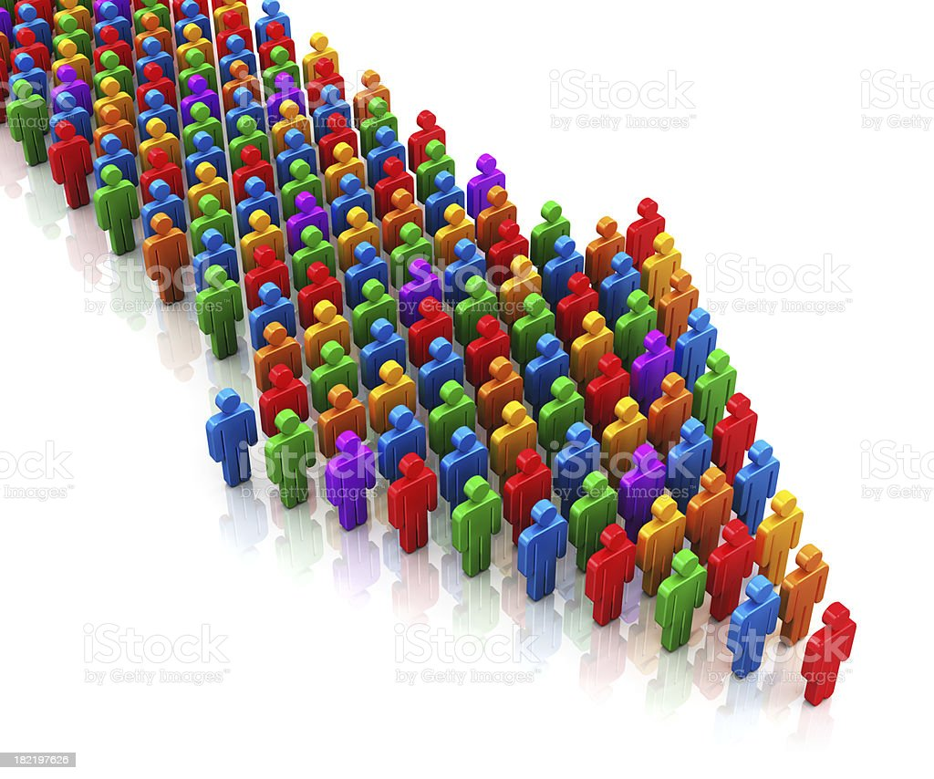 Social communication and teamwork concept royalty-free stock photo
