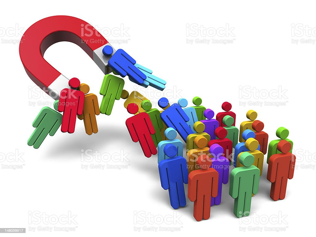Social engineering concept stock photo