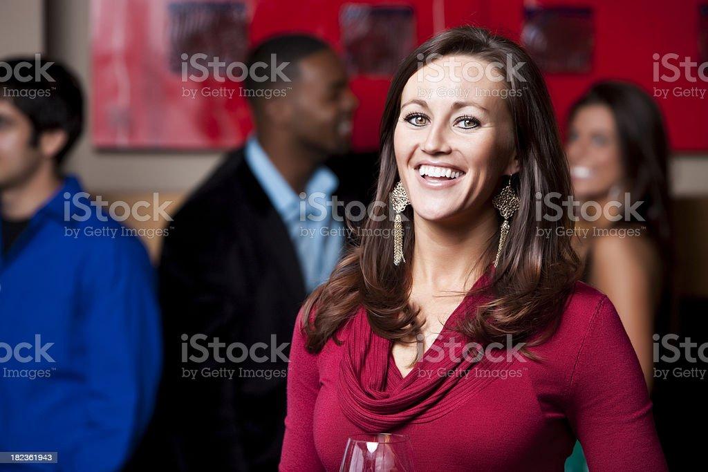 Social Gathering: Happy Woman royalty-free stock photo