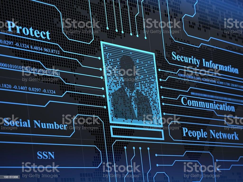 Social Information royalty-free stock photo