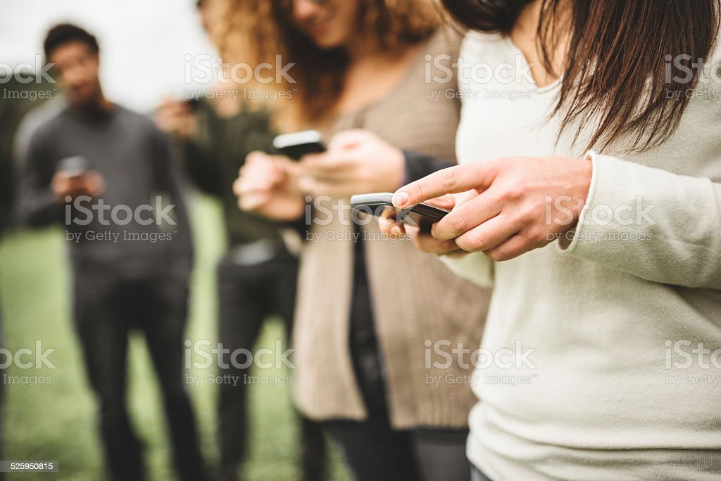 social media addiction stock photo